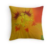 Fiery Nasturtium Throw Pillow