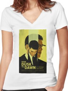 From Dusk Till Dawn Women's Fitted V-Neck T-Shirt