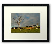 Rowsely Valley Farm Framed Print