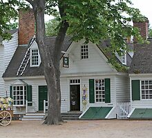 Colonial Shops  by Vanessa Goodrich