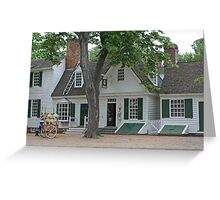 Colonial Shops  Greeting Card
