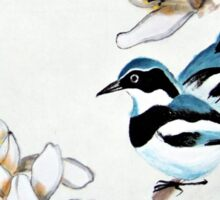 Magnolia and Two Birds Sticker