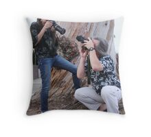 Bubblers in Action! Throw Pillow