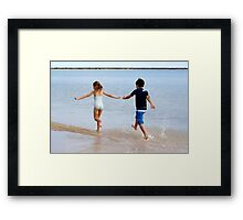 Twins at the edge of Little Lagoon, Shark Bay Framed Print