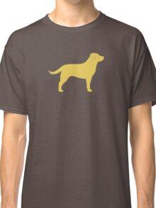 Yellow Labrador Retriever Silhouette Classic T-Shirt