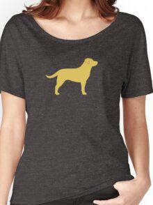 Yellow Labrador Retriever Silhouette Women's Relaxed Fit T-Shirt