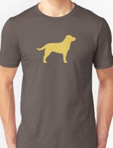 Yellow Labrador Retriever Silhouette T-Shirt