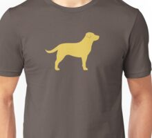 Yellow Labrador Retriever Silhouette Unisex T-Shirt