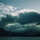 Mountains On way from Svolvaer Norway to Bodo Norway 198406200060 by Fred Mitchell