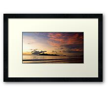 Sunrise over Dunk Island with clouds Framed Print