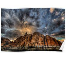 Big Clouds, Bigger Rock Poster