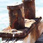Rusty bollards, One Mile Jetty, Carnarvon by ladieslounge