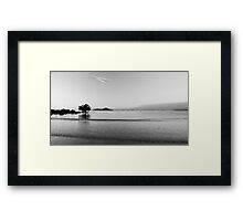 Dunk Island view , black and white Framed Print