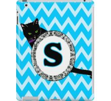 S Cat Chevron Monogram iPad Case/Skin