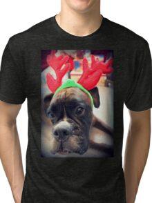 It's That Time Of The Year Again... Bah Humbug... - Boxer Dogs Series Tri-blend T-Shirt
