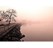 """Foggy Board Walk"" Photographic Print"