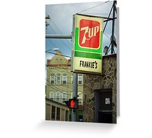 Frankie's Tavern, Binghamton, New York Greeting Card