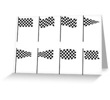 Checkered flags collection Greeting Card