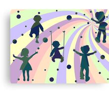 children, rays and bubbles Canvas Print