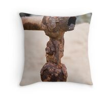 Rusty handrail at Redcliffe Throw Pillow
