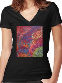 collaboration Women's Fitted V-Neck T-Shirt