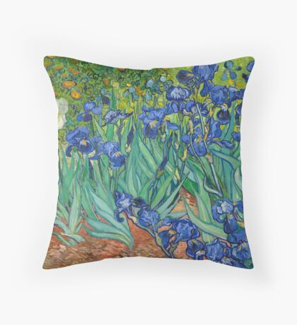Van Gogh - Irises Throw Pillow