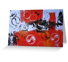 Water Series - Red Tides print by Heather Holland Greeting Card