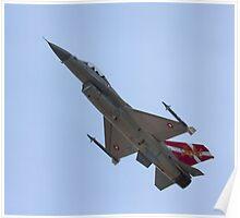"F16 MLU Royal Danish Air Force ""Slow Pass"" Poster"