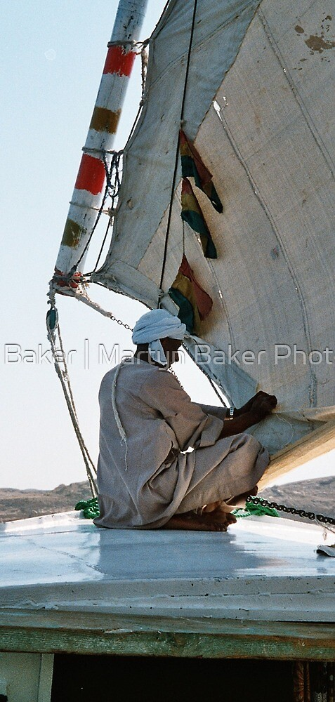 Local Sailor tending to his felucca,River Nile, Egypt by Martyn Baker | Martyn Baker Photography