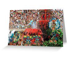 Rio Carnival, Rio de Janeiro, Brazil Greeting Card