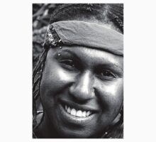 Aboriginal Smile BW Kids Clothes
