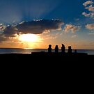 Taking In The Sunset, Easter Island by Martyn Baker | Martyn Baker Photography