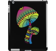 Shrooms - yellow/green/pink/blue iPad Case/Skin