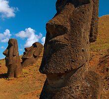 Imposing Heads, Easter Island by Martyn Baker | Martyn Baker Photography