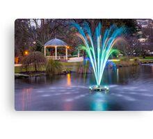 Fountain Light Show Canvas Print