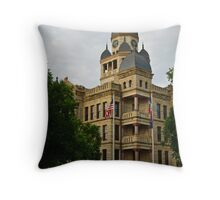 Denton County Courthouse on the Square Throw Pillow