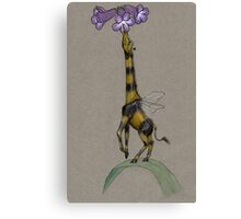 Bumble Giraffe Canvas Print