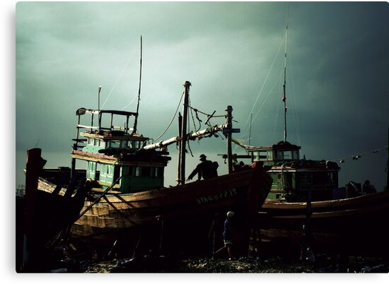 """""""A ship is safe in harbor, but that's not what ships are for."""" by Yves Schiepek"""