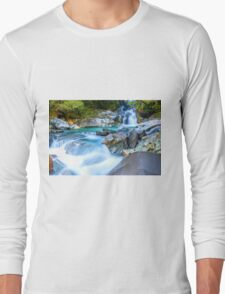 Waterfall in Fiordland National Park Long Sleeve T-Shirt