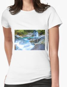 Waterfall in Fiordland National Park Womens Fitted T-Shirt