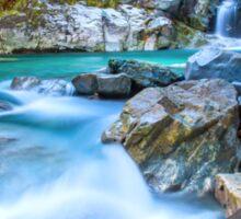 Waterfall in Fiordland National Park Sticker