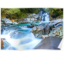 Waterfall in Fiordland National Park Poster