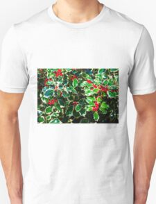 Christmas Holly  Unisex T-Shirt