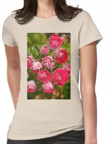 Pink and red roses Womens Fitted T-Shirt