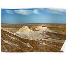 Cream Hills - Painted Desert - South Australia Poster