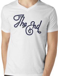 THE END! Mens V-Neck T-Shirt