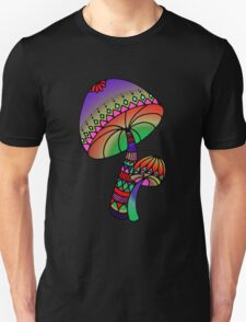 Shrooms - red/purple/pink/green T-Shirt