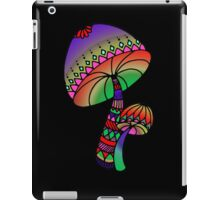 Shrooms - red/purple/pink/green iPad Case/Skin