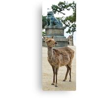 The Deer & The Dragon Canvas Print