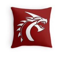 Simple Dragon -White- Throw Pillow